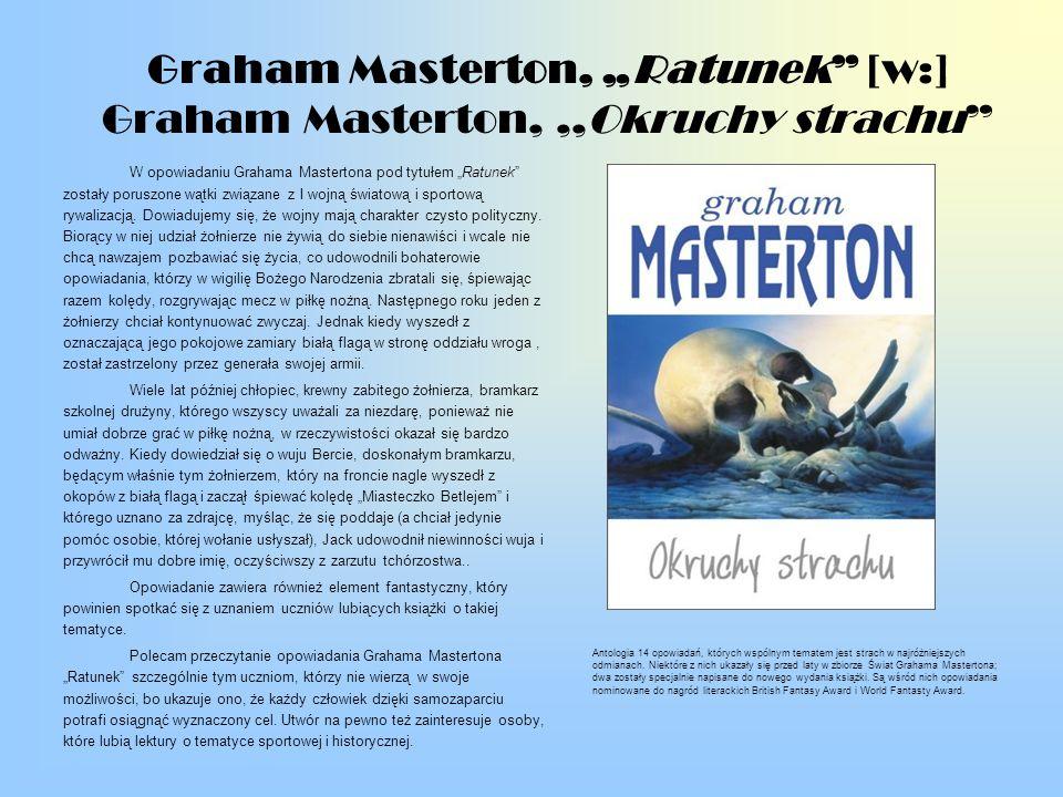 "Graham Masterton, ""Ratunek [w:] Graham Masterton, ,,Okruchy strachu"